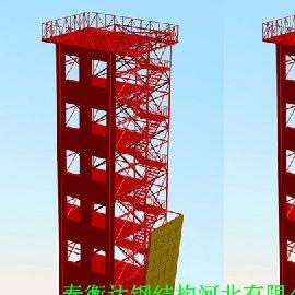 带攀岩训练塔,攀岩消防训练塔,6层训练